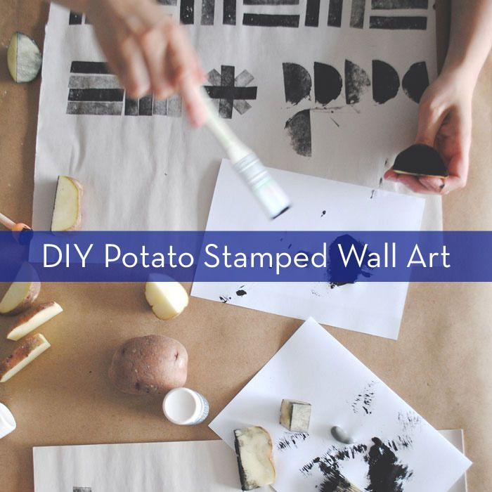 Make art for your wall with supplies from your kitchen!