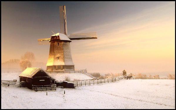 Winter Windmill, Schermerhorn