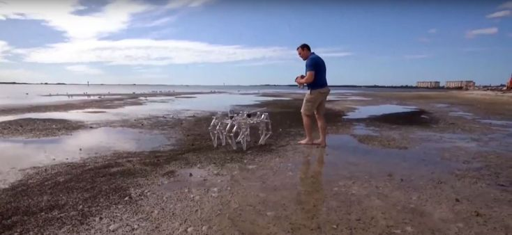 When Discovery Channel Wants to Film Your Broken Bot | Make:  ||  The Discovery Channel wanted to film his walker in action, but, of course, the bot broke when the film crew was there. https://makezine.com/2018/02/01/discovery-channel-broken-bot/?utm_campaign=crowdfire&utm_content=crowdfire&utm_medium=social&utm_source=pinterest