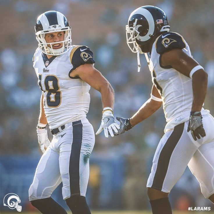 Los Angeles Rams new uniforms, white horn helmets.