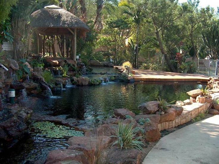 43 best images about garden designs on pinterest gardens for Backyard koi pond designs