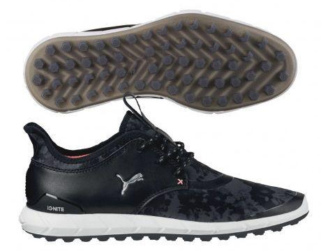 Puma Ladies Ignite Spikeless Sport Floral Golf Shoe Black/Silver 10 Medium