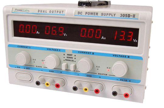 #Zasilacz #POWERLAB 305D-II 2x30V/5A, 5V/3A LED z potencjometrem wieloobrotowej regulacji #napięcia zwiększający precyzję nastaw