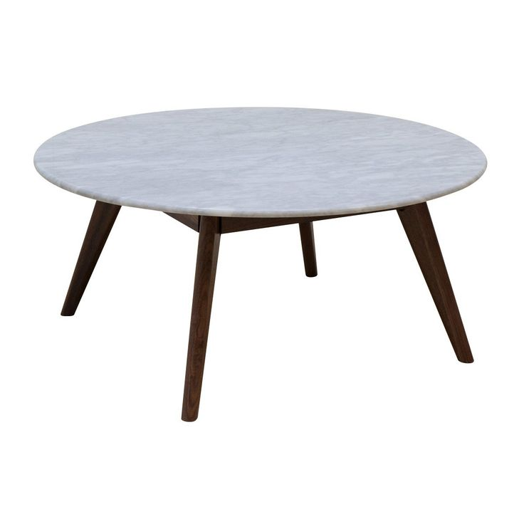 Browse Contemporary Coffee Tables Online or Visit Our Showrooms To Get Inspired With The Latest Coffee Tables From Life Interiors - Oia Round Marble Coffee Table (Walnut, 90cm)