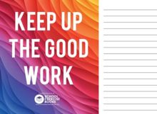 Keep up the good work! Send this postcard to your students this exam season! www.schoolexercisebooks.uk.com
