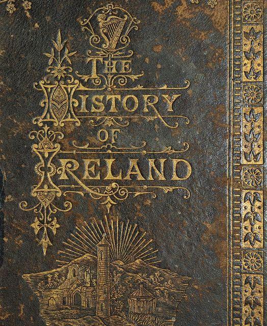 History of Ireland 1883 - gilt impressed title.