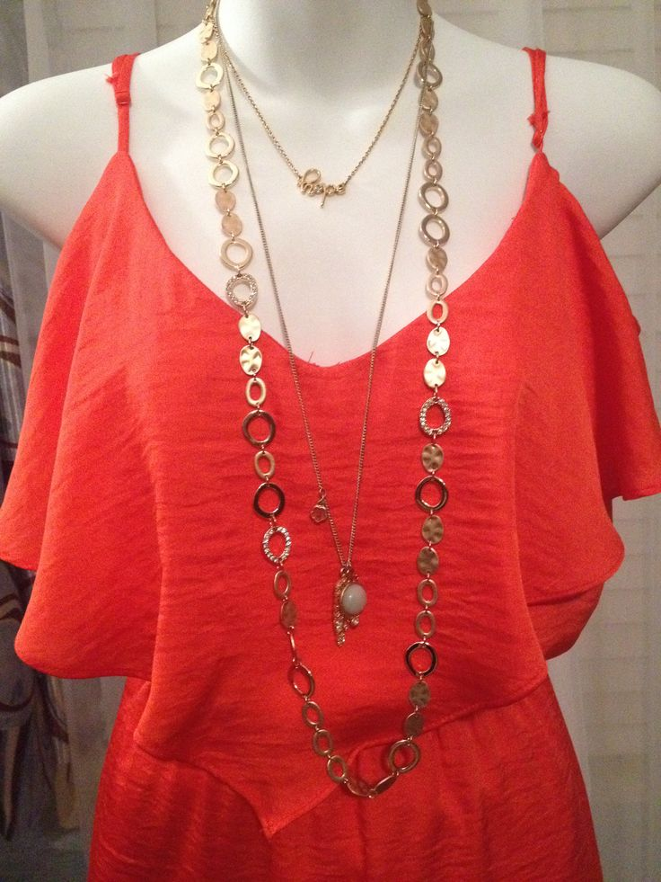 Nice example of layering various necklaces that don't necessarily match.  Hard for me to imagine on my own.  Premier Designs 2014 combos!