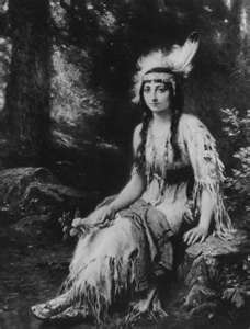 Pocahontas (born Matoaka,  1595 – March 1617) was a Virginia Indian[1] notable for her association with the colonial settlement at Jamestown, Virginia. She was the daughter of Chief Powhatan, the head of a network of tributary tribal nations in the Tidewater region of Virginia. In a well-known historical anecdote, she is said to have saved the life of an Indian captive, Englishman John Smith, in 1607 by placing her head upon his own when her father raised his war club to execute him.