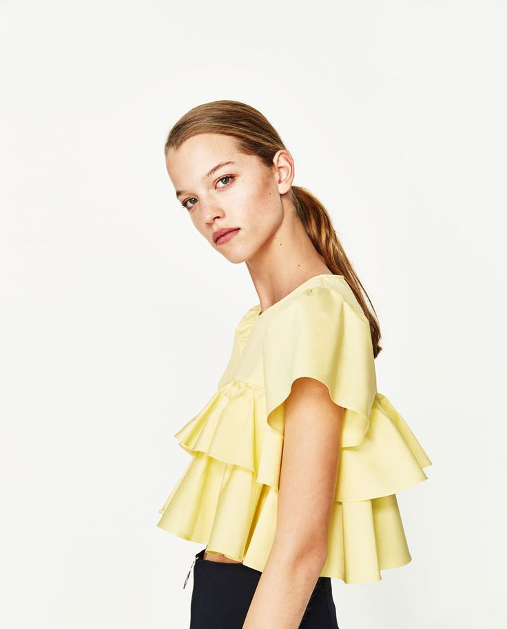FRILLED SLEEVE TOP - Collection-POPLIN-TRF | ZARA United States