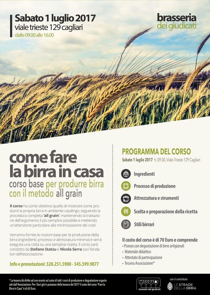 Cagliari: al via un corso per fare la birra in casa - Le Strade della Birra, il magazine sul mondo della birra artigianale in Italia