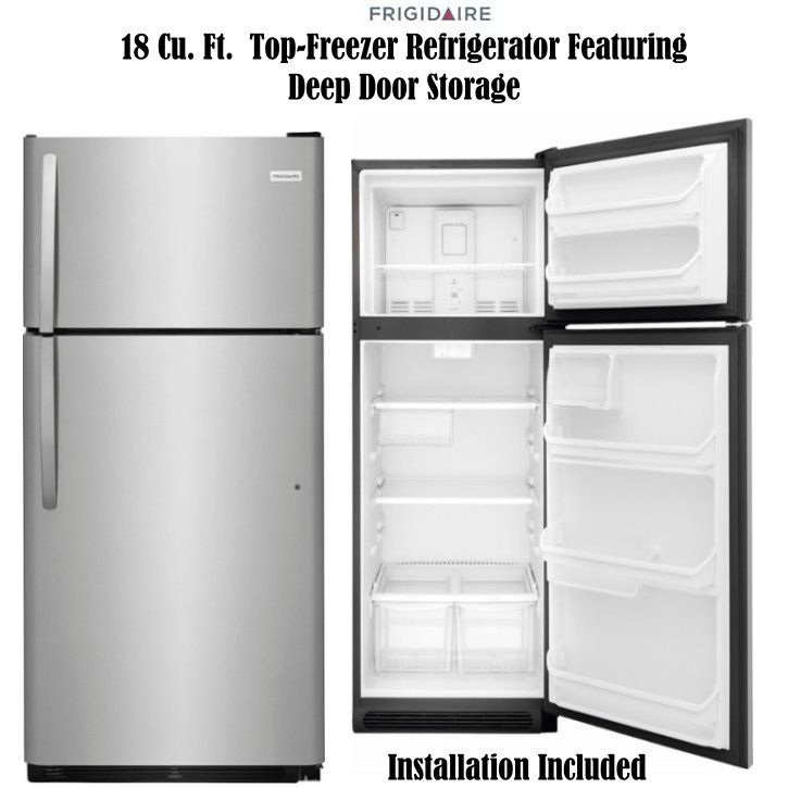 As Low As 36 67 Biweekly Get This Frigidaire Refrigerator To