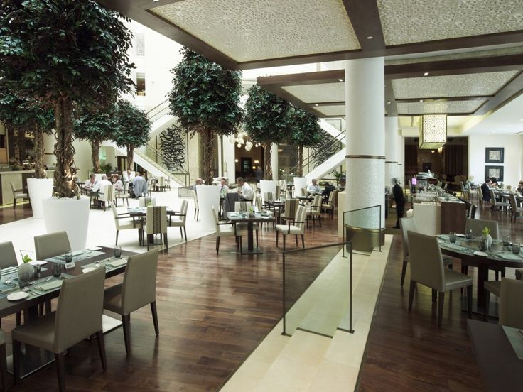 Artificial Red Ficus Trees @ Essence Restaurant in Abu Dhabi United Arab Emirates