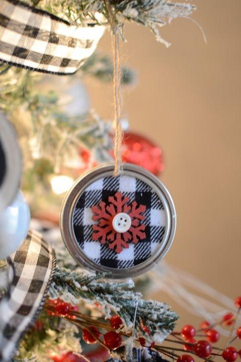 DIY Mason Jar Lid Christmas Ornaments-20 – Mason jar lids ornaments
