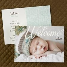 ensure your birth announcement wording indicates that it was a baby 'boy' from CardsShoppe