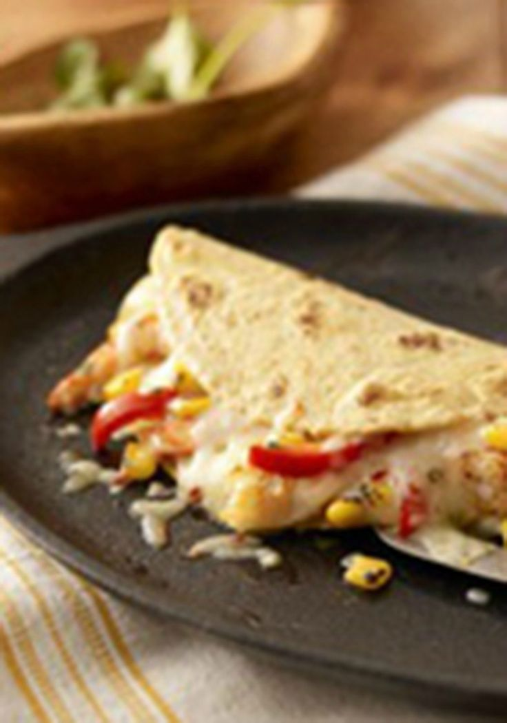 ... shrimp quesadillas, you'll think it's cilantro, lime, chili and p...