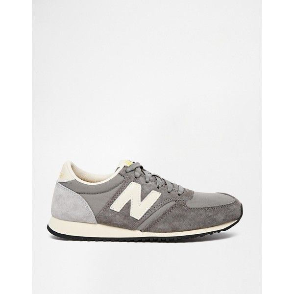 New Balance 420 Grey Vintage Trainers ($93) ❤ liked on Polyvore featuring  shoes,