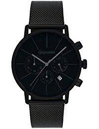 Leder Armbanduhr Herren Schwarz