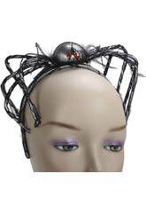 Diadema araña plateada