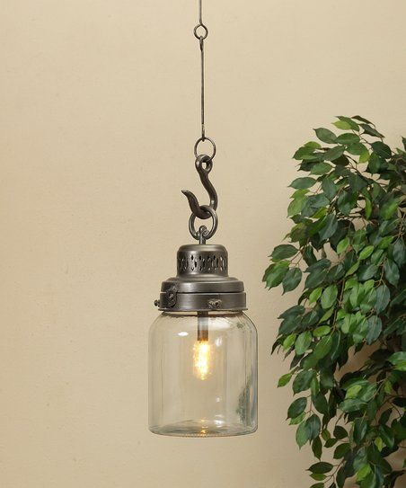 The Gerson Company 40 Glass Metal Lantern Pendant Light
