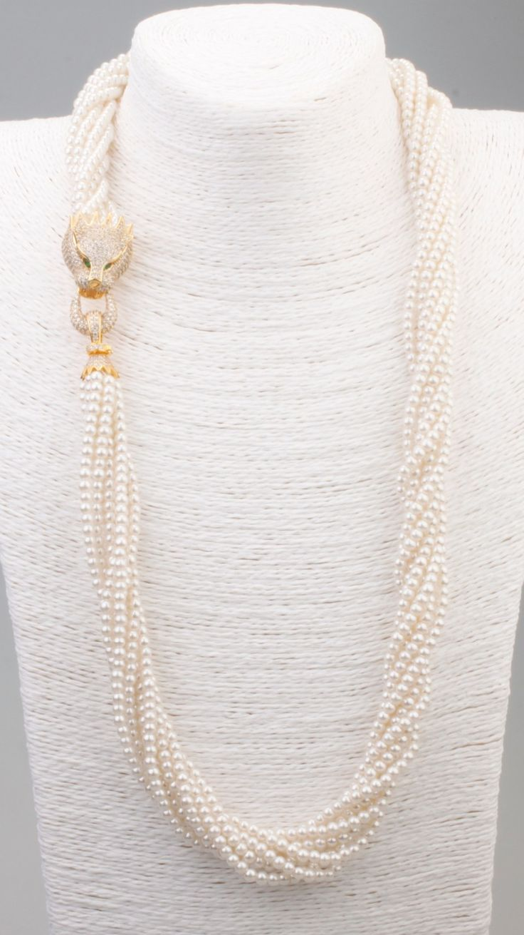 Cheap necklace usb, Buy Quality necklace watch directly from China necklace world Suppliers: GrayBirds Free Shipping New Fashion Pearl Necklace Animal Panther Leopard Pearl And Copper Necklace N1042