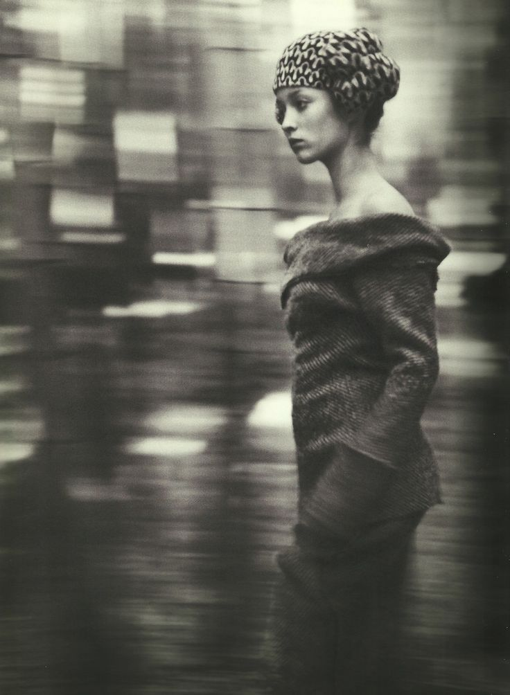 "voguelovesme:    Audrey Marnay in ""Talking to Myself,"" Yohji Yamamoto"