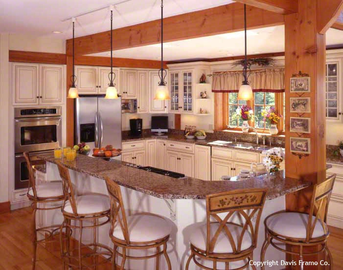 25 best dream kitchens images on pinterest kitchen ideas for Post and beam kitchen ideas