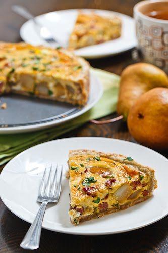 Caramelized Pear and Gorgonzola Quiche