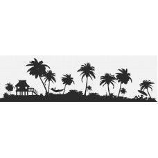 Chill Island Scene tropical Sculpture  Wall Art