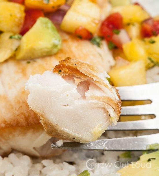 Mahi Mahi with Mango Avocado Salsa - Easy and delicious and totally ...