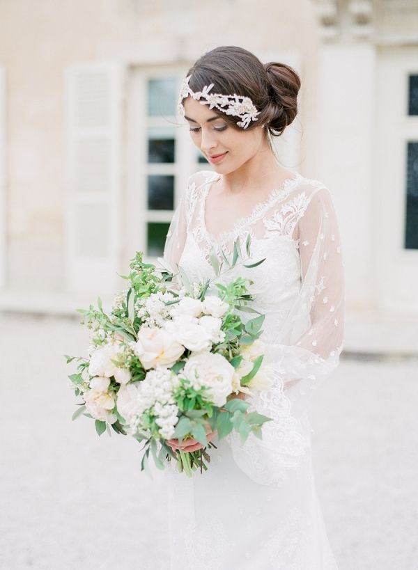 Bride in Wedding Dress with Sleeves | Artiese Studios on @eadweddings via @aislesociety
