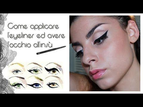 Tutorial Come applicare l'eyeliner ed avere l'occhio all'insù e allungato - YouTube