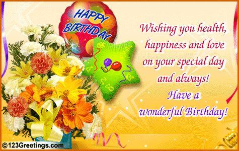 Beautiful Animated Birthday E Cards – 123 Birthday Greeting