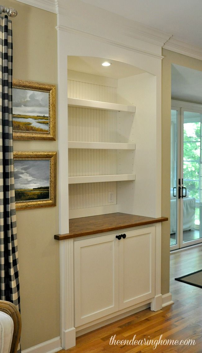 Built In Cabinet replaces door- The Endearing Home