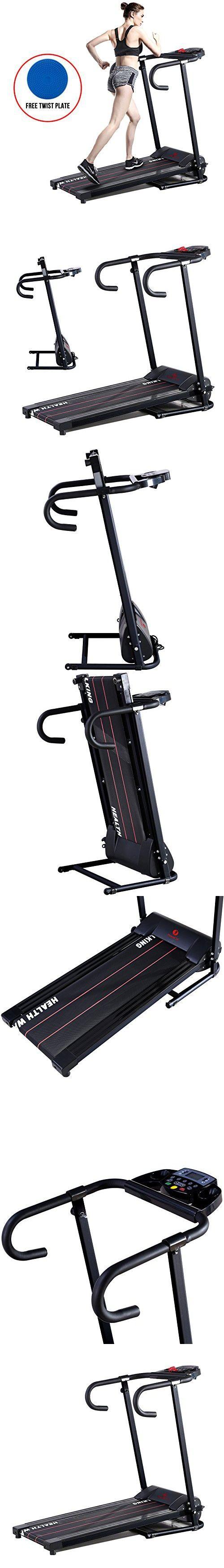 H.B.S Portable Folding Electrical Running Machine Motorized Treadmill Home Gym Running Machine Black