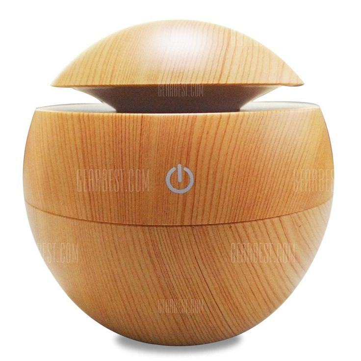 [ $17.16 ] Aroma Essential Oil Diffuser 130ML Aromatherapy Cool Mist Humidifier  -  WOOD GRAIN