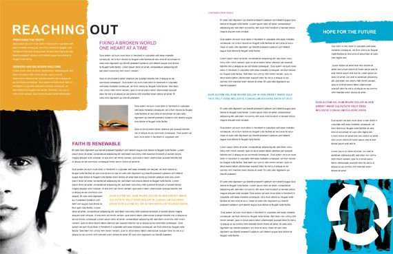 Magazine Layout Templates | : Create a Magazine Design from a ...