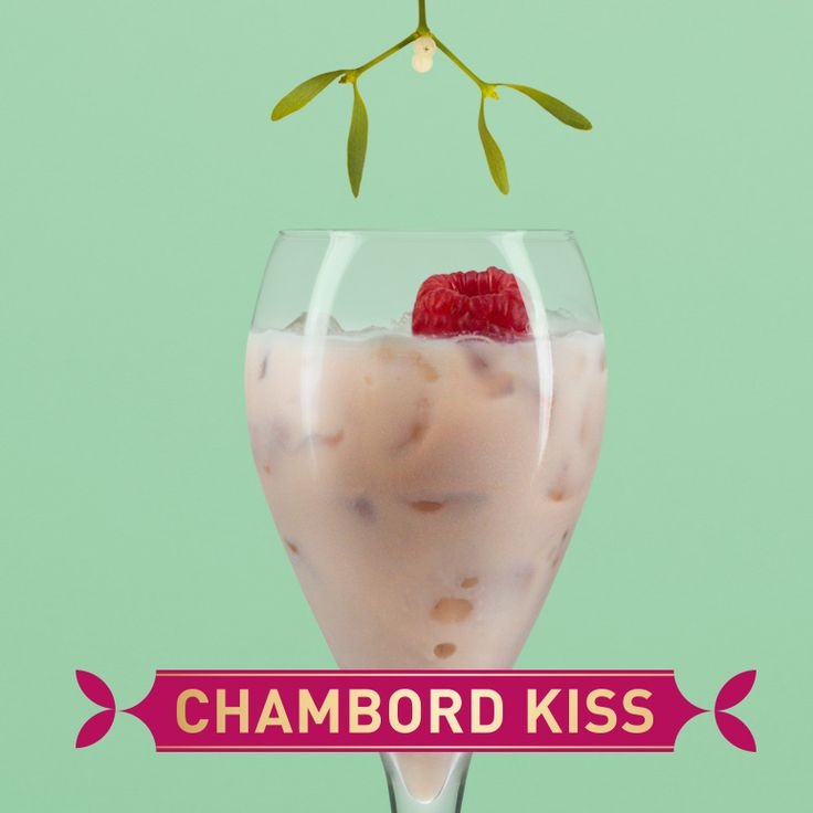 The Chambord Kiss is the perfect treat with a seasonal twist. Smooth and sweet, serve over ice and drink under the mistletoe.