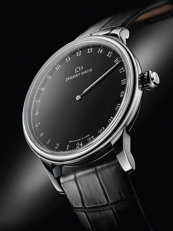 The Watch Quote: The Jaquet Droz Grande Heure Onyx watch - New trends at Jaquet Droz: Onyx and steel | Raddest Men's Fashion Looks On The Internet: http://www.raddestlooks.org
