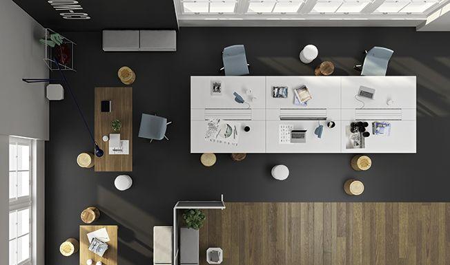 #operativearea #wood #bench #desk #topview #newoffice #interiordesign #modernoffice #officedesign #mecooffice