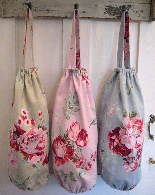 rose fabric carrier bag holder by the rose shack | notonthehighstreet.com
