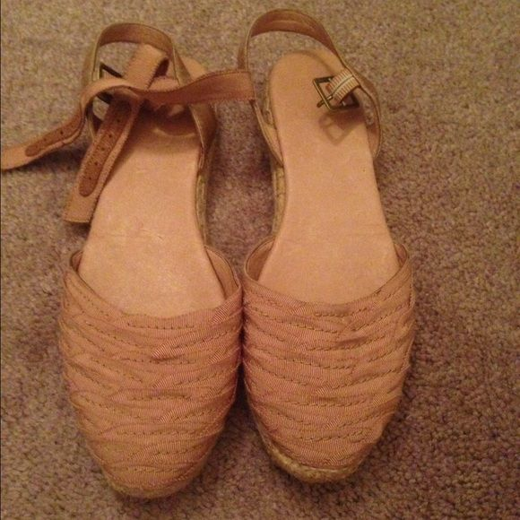 Joie shoes Blush colored summer espadrilles. Brand new never worn. Color goes with everything!! Joie Shoes Espadrilles