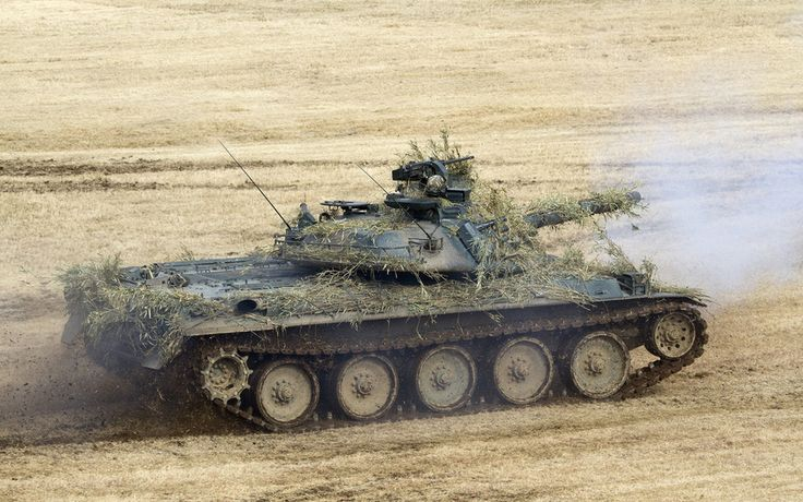 японский, поле, танк, тип 74, боевой