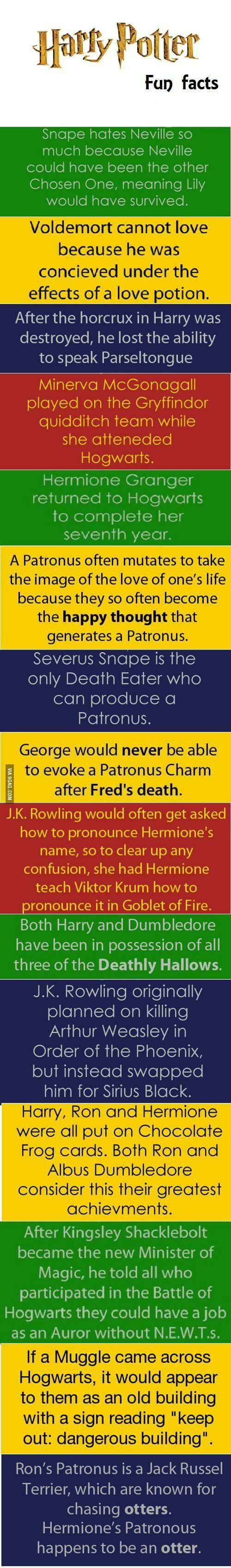 Harry Potter fun facts - www.viralpx.com