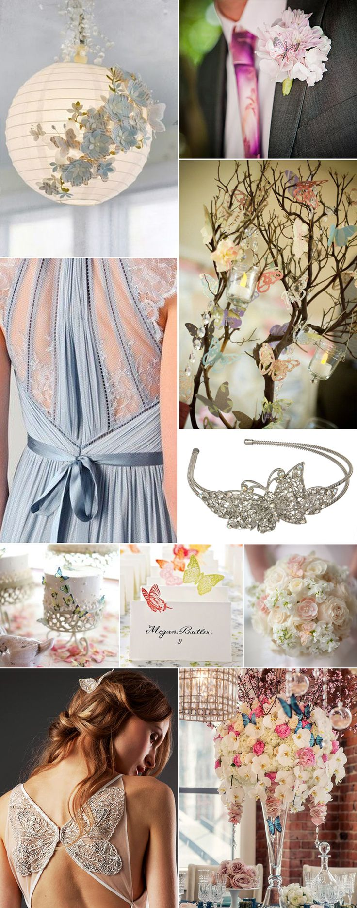 As a symbol of new life, transformation and (in Japanese culture) marital bliss, we can see why butterfly themed weddings are popular around the world