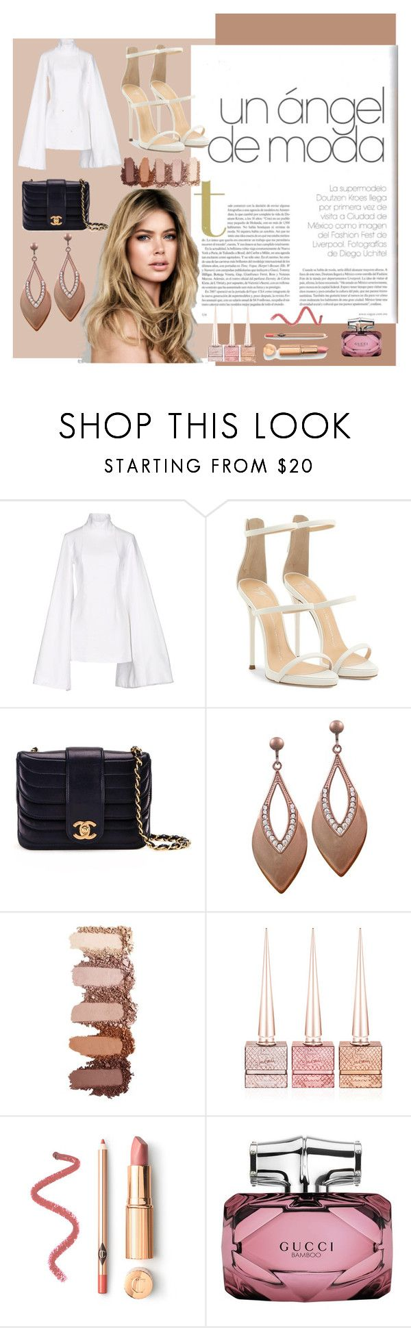 """""""new york"""" by patybernal on Polyvore featuring moda, Jacquemus, Giuseppe Zanotti, Chanel, Christian Louboutin, Gucci, chic, angel, mexico y women"""
