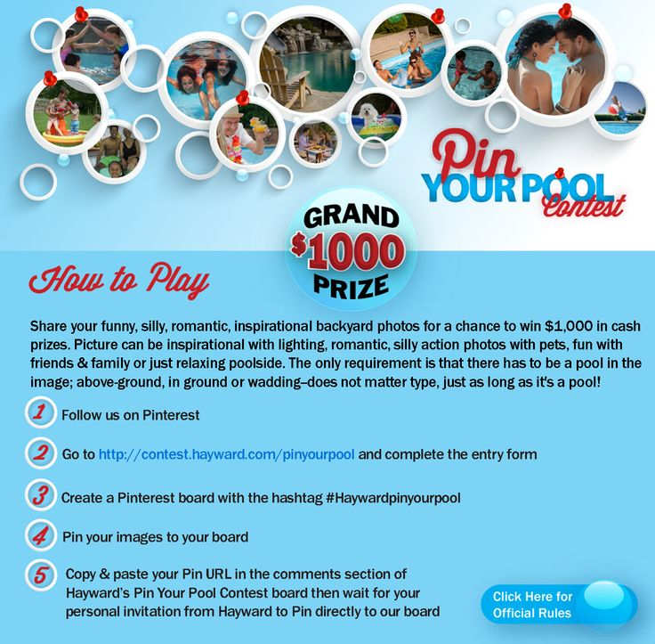 Pin Your Pool Contest: Get Hut