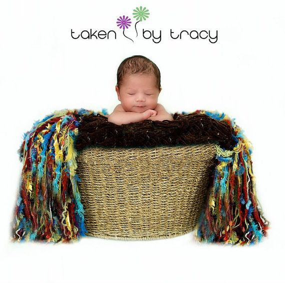 Happy Monday; I hope everyone had a fantastic Mother's Day! :) This precious baby seems so proud to have that head up!  Photography fringe blanket by BabyBirdz, $95.00