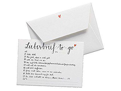 Witzige Grußkarte Zu Hochzeit Oder Valentinstag   Liebesbrief To Go    Originelle Grußkarte Auf Hochwertigem Büttenpapier