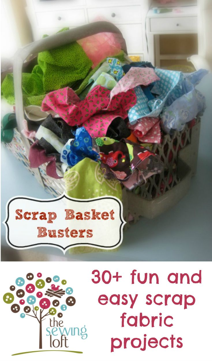 30+ free, fun and easy small projects that are just perfect for your fabric scraps.  Something for everyone and for every scrap of your favorite fabrics.  Quick to sew, these scrappy projects are great for gifts too, or even many for sale.  Use up all your small pieces of your precious fabrics with these scrappy ideas. |The Sewing Loft.