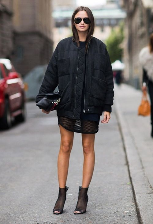 Quilted bomber Jacket and all black outfit. #rasspstyle #AllBlack
